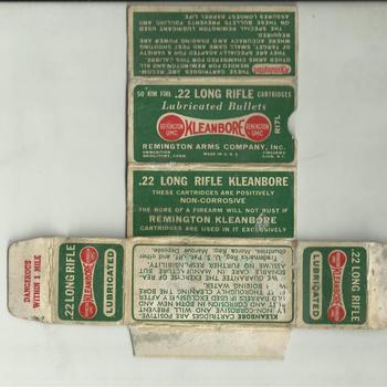 lege verpakking van Kleanbore 22 long rifle lubricated bullets