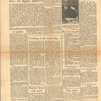 Het Parool,  Vrij Onverveerd, donderdag 13 september 1945