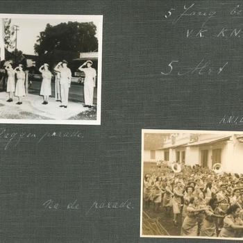 '5 jarig bestaan Vrouwenkorps KNIL, 5 mei 1949, vlaggenparade'