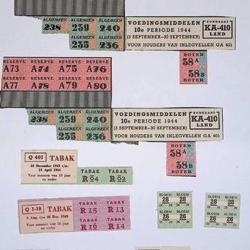 Verzameling bonkaarten
