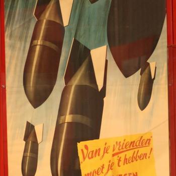 Affiche Bombardement van Nijmegen, Arnhem en Enschede
