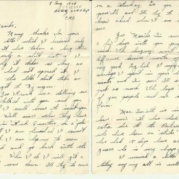 Brief van Dennis Terry aan Maaike van Zandwijk, 7 augustus 1945