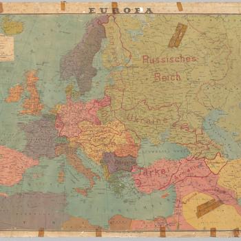 Kaart van Europa kort na de Eerste Wereldoorlog