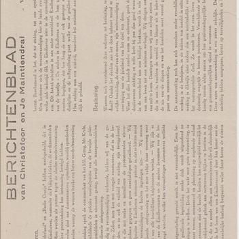 Berichtenblad van Christofoor en Je Maintiendrai. No. 19. Vrijdag 24 Nov. 1944