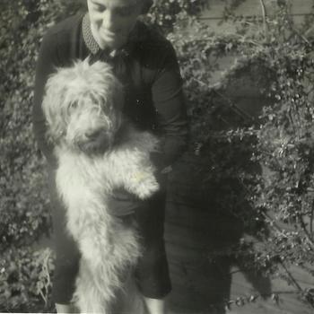Joosten collectie: vrouw, hond