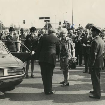 Koningin Juliana op Trajanusplein in Nijmegen