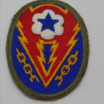 embleem, Amerika, stof, ETO,  WW2 U.S. Headquarters European Theatre of Operations, Communications Zone Personnel, European Theatre of Operations Patch