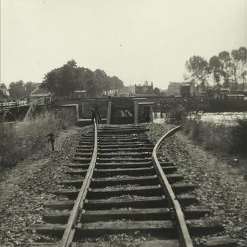 rail, kapot, brug in kanaal, Geertruidenberg