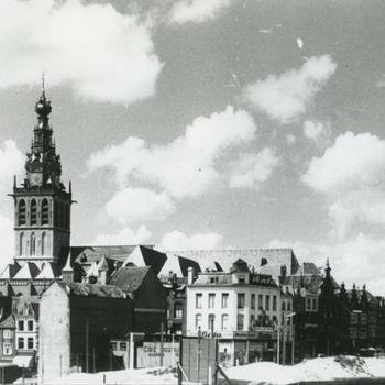 centrum Nijmegen, St Stevenskerk, Augustijenstraat en Grote Markt
