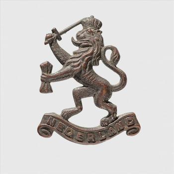 embleem, metaal, Nederland,  - Koninklijk Nederlandsch Indisch Leger, K.N.I.L embleem