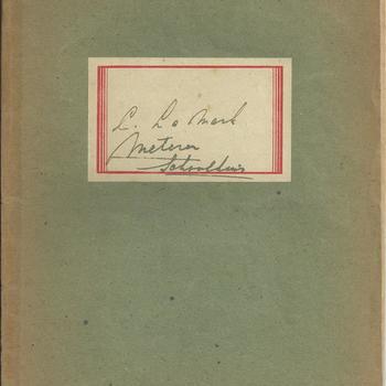 Dagboek , aantekeningen van Stien Lamark van 10 mei 1940 , november 1944 en de hongerwinter 1944-1945 te Meteren