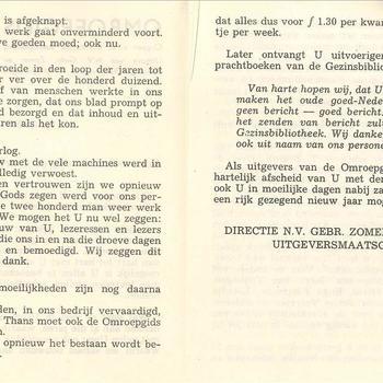 Omroepgids. Orgaan v.d. Christelijke Radiostichting, Wageningen, jaareind 1941 (K. 2492)