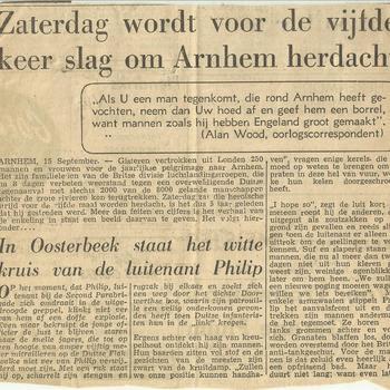 Zaterdag wordt voor de vijde keer de slag om Arnhem herdacht