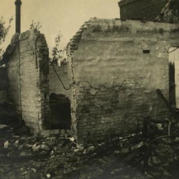 uitgebrand huis (in Wageningen ?)