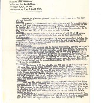 Rapport Nr. 2 over de werkzaamheden van den verbindingsofficier BNS in den Achterhoek op 2 en 3 april 1945