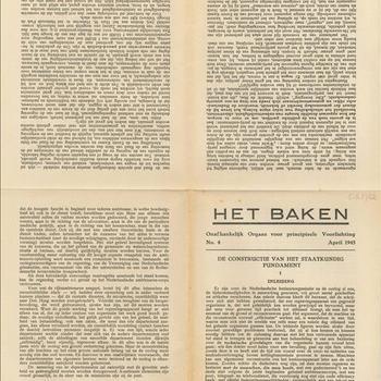 Het Baken, Onafhankelijk Orgaan voor principieele Voorlichting: April 1945, No 4