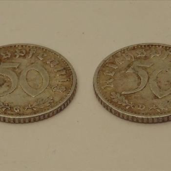 munt, Duits  50 Pfenning  1940-1941