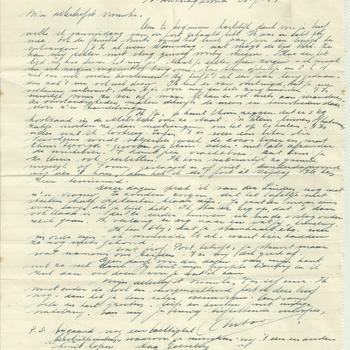 Brief van Antoon Jeuken aan verloofde, 26 juli 1944