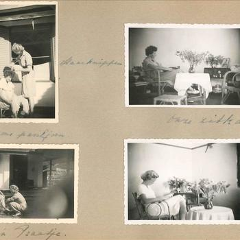 Dagelijks leven leden Vrouwenkorps KNIL 1949, Nederlands-Indië, 4 foto's