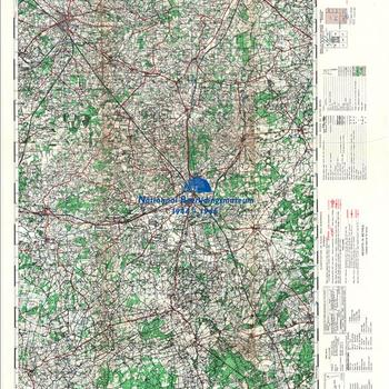 Winterswijk, Germany, schaal 1 : 50.000, sheet 36, GSGS 4507. First ( emergency ) edition.
