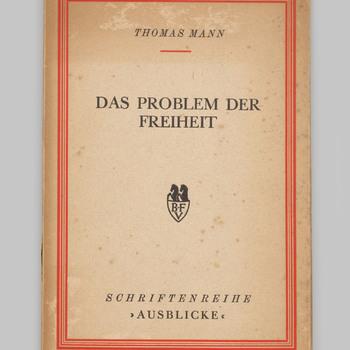 Das Problem der Freiheit - Thomas Mann