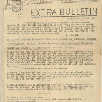 De Waarheid ( verschillende edities ), De Waarheid Extra Bulletin, Hengelo (O.) 5 Mei 1945