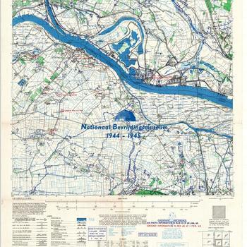 Millingen, Eastern Holland 1:25:000, Sheet 4102, AMS m831, GSGS 4414. Defence overprint of Jan. 2, 1945