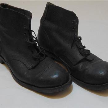 schoenen, behorende bij uniform Britse parachutist