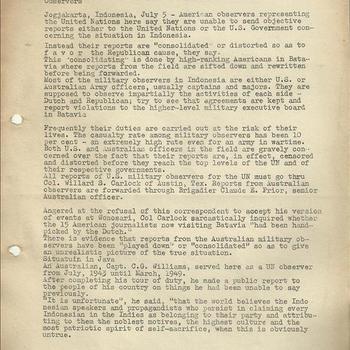 Over de pers in Nederlands-Indië door William H. Newton, 1949