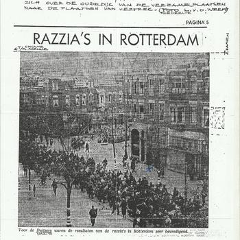 De Volkskrant-archief 2005    Razzia's in Rotterdam