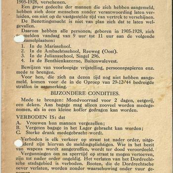 Stellingsbevel ( razzia ) Dordrecht 1945