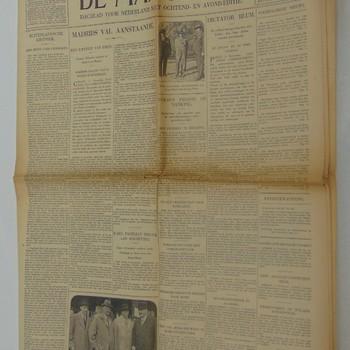 """""""De Maasbode"""" """"Dagblad voor Nederland met ochtend- en avond-editie"""" """"Avondblad"""" """"Vrijdag 6 november 1936"""" """"69e jaargang no. 27076"""""""