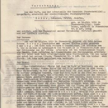 bericht :  S.D. z.b.v. - Kommando 22 Aussenstelle II Zutphen in Wichmond,   24 januari 1945