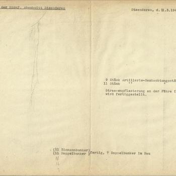 Bericht   Einsatzstab der NSDAP, Abschnitt Steenderen 11 maart 1945