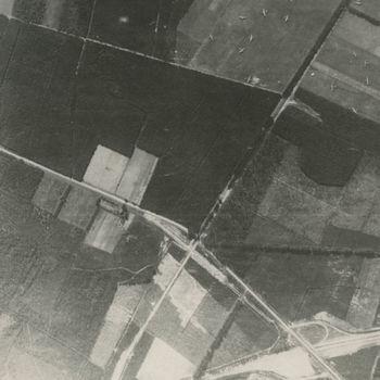 Luchtfoto landingsterrein bij Wolfheze