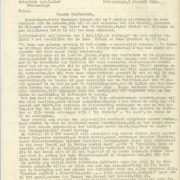 brieven van G. Raaijmakers  sup.prov.  S.C.J. aan de paters, fraters en broeders  1944