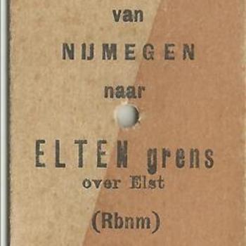 treinkaartje, Nijmegen - Elten grens
