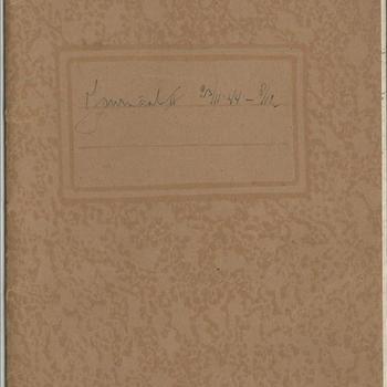 dagboek  schrift no 3  - dhr van Lieshout - 23 november tot 8 december 1944