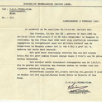 Koninklijk Nederlandsch Indisch Leger - Kanchanaburi februari 1947
