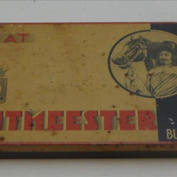 sigarendoosje, metaal, Ritmeester Fiat, 10 sigaren