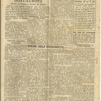 De Gooi- en Eemlander, 74ste Jaargang, No 76. 4 april 1945