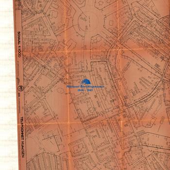 Nijmegen, schaal 1:1000, Telefoonnet Nijmegen, PTT, Telefoondistrict Arnhem, blad nummer 17