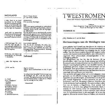 Artikel van J.W.J. Hamilton en G. van den Boom, Herinneringen aan de meidagen van '40, deel 1, in Tweestromenland, Maas en Waals tijdschrift voor streekgeschiedenis, nummer 65, 1990, pp. 3-35 (kopie) (informeel)