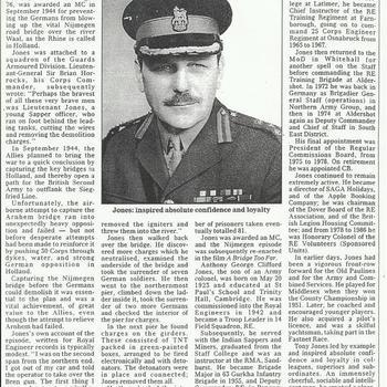 Major-General Tony Jones