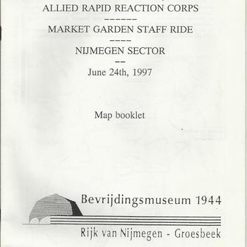 Allied rapid reaction Corps,  Market Garden Staff Ride, Nijmegen Sector