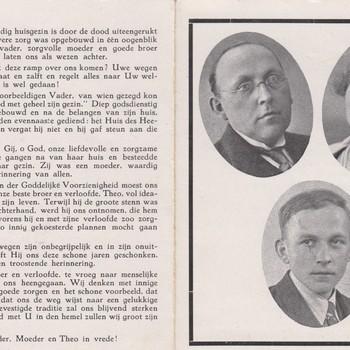 bidprentje, J.G. Litjens, T.N.M. Litjens-Van de Putten, T.H.N. Litjens