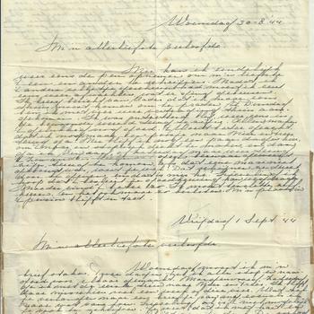 Brief van Tiny Middendorp aan verloofde, 30 augustus - 1 september 1944