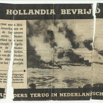 Hollandia bevrijd 22 april 1944