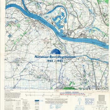 Millingen, Eastern Holland 1:25:000, Sheet 4102, AMS m831, GSGS 4414. Defence overprint of Jan. 20, 1945