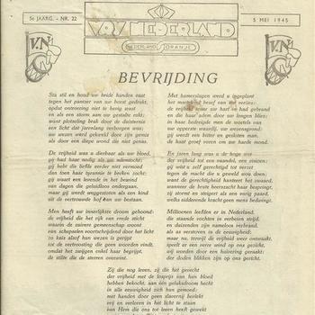 Vry Nederland  5 mei 1945